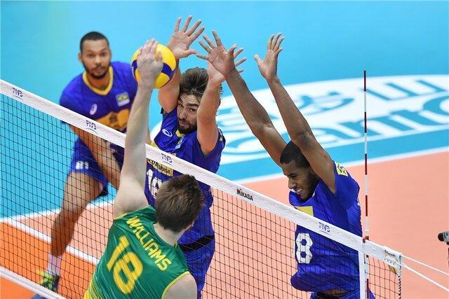 صدرنشینی برزیل تا انتها روز دوم جام جهانی والیبال