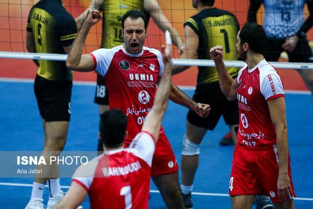 پیروزی خارج از خانه شهرداری ارومیه در هفته 12 لیگ والیبال