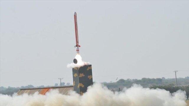 پاکستان یک موشک بالستیک آزمایش کرد