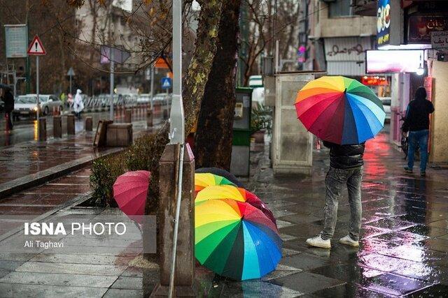 بارش برف و باران در گیلان، افزایش نسبی دما از سه شنبه