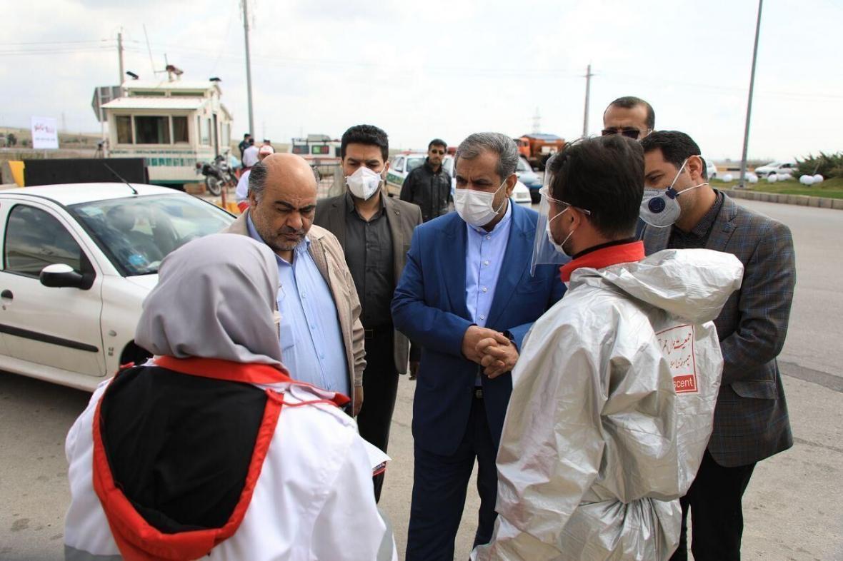 خبرنگاران استاندار از مبادی ورودی و خروجی شهر قزوین بازدید کرد