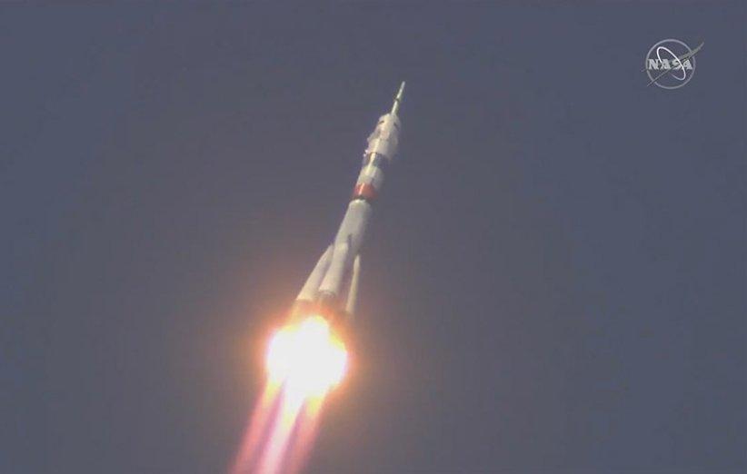 سه فضانورد با فضاپیمای سایوز روانه ایستگاه فضایی بین المللی شدند