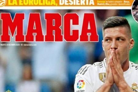 صفحه نخست روزنامه های طرفدار بارسلونا و رئال مادرید (تصاویر)
