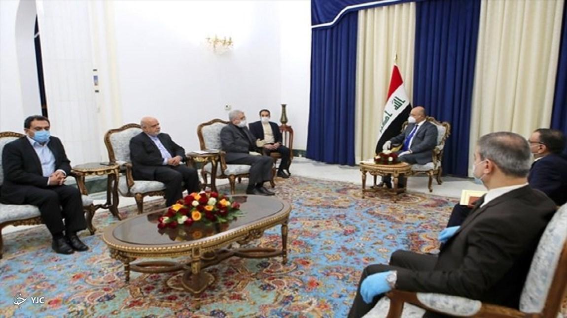 وزیر نیرو با رئیس جمهور عراق ملاقات کرد