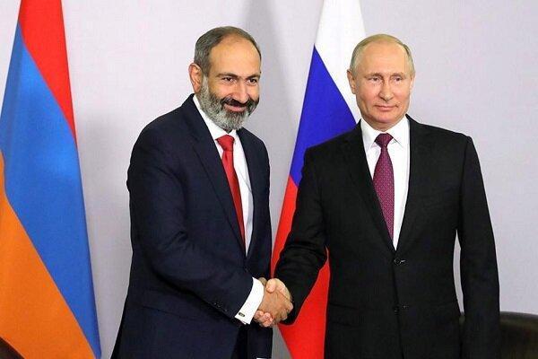 پوتین و پاشینیان درباره اجرای توافقات صلح در قره باغ رایزنی کردند