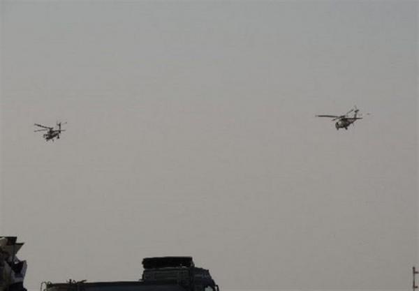 عراق، پروازهای مشکوک بالگردهای آمریکایی بر فراز مواضع حشد شعبی