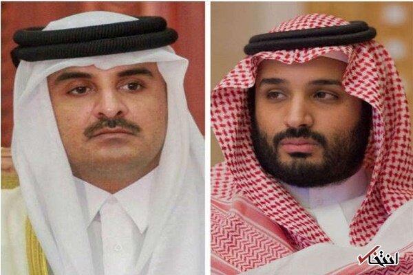 امیر قطر تلفنی با ولیعهد سعودی تبادل نظر کرد