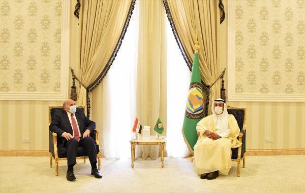 وزیر خارجه عراق با دبیرکل شورای همکاری خلیج فارس ملاقات کرد