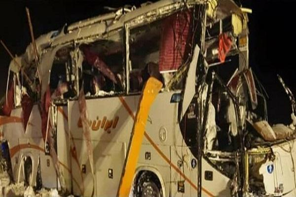 واژگونی اتوبوس تیم فوتسال در جاده چالوس