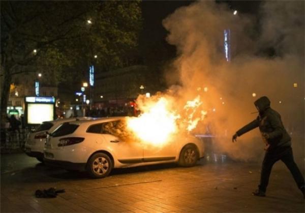 به آتش کشیده شدن تعداد زیادی خودرو در برزیل