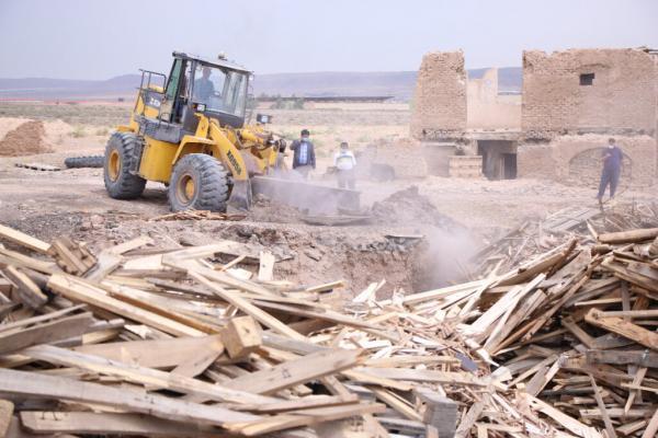 تخریب کوره های غیرمجاز فراوری زغال در بخش کهریزک