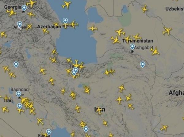 رشد 130 درصدی پروازهای عبوری از آسمان ایران