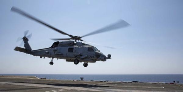 5 نظامی آمریکا پس از سقوط بالگرد نیروی دریایی این کشور مفقود شده اند