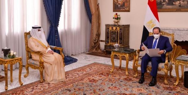 پیغام مکتوب امیر کویت به رئیس جمهور مصر
