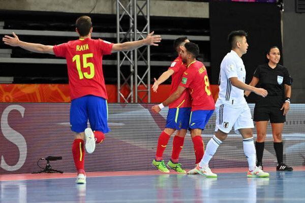 پیروزی تیم ملی فوتسال اسپانیا برابر ژاپن